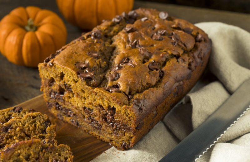 Chocolatey Chip Pumpkin Bread